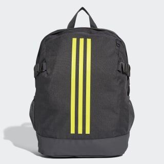 3-Stripes Power Backpack Medium carbon / shock yellow / shock yellow DM7681