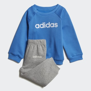 Linear Fleece Jogger Set True Blue / White DV1265