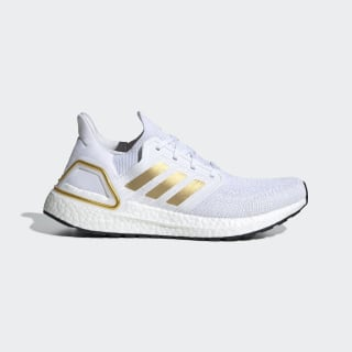 Ultraboost 20 Shoes Cloud White / Gold Metallic / Core Black EG0727