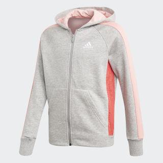 Chaqueta con capucha adidas Athletics Club Medium Grey Heather / Core Pink FL1782