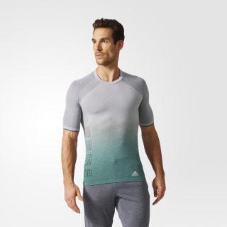 Playera Primeknit Wool Dip-Dye Multi Solid Grey / Trace Green AZ2899