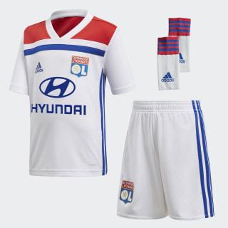 Olympique Lyon Mini-Heimausrüstung White / Collegiate Red CK3176