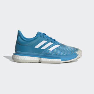 SoleCourt Clay Shoes Shock Cyan / Cloud White / Raw White G26302
