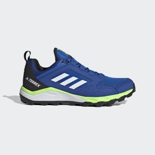 TERREX Agravic Trailrunning-Schuh Glory Blue / Cloud White / Signal Green EF6858