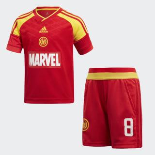 Conjunto Futebol Marvel Iron Man VIVID RED/EQT YELLOW/SCARLET/WHITE VIVID RED S13/SCARLET/EQT YELLOW S16 DI0199