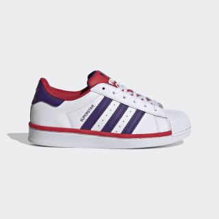 Superstar Shoes Cloud White / Collegiate Purple / Scarlet FV3664