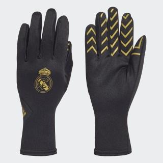 Real Madrid Feldspieler-Handschuhe Black / Gold Met. FK4408