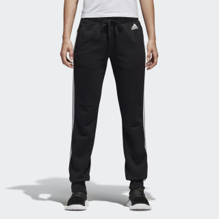 Essentials 3 Stripes Closed Hem Slim Pants Black / White S97113