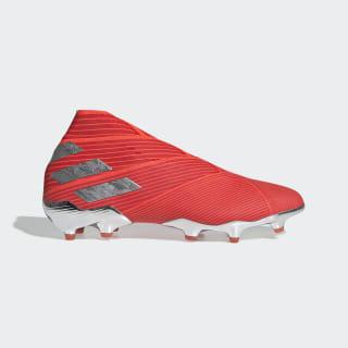Calzado de Fútbol Nemeziz 19+ Terreno Firme Active Red / Silver Metallic / Solar Red F34404
