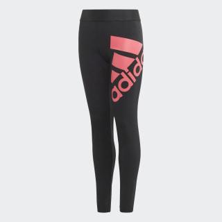 Must Haves Badge of Sport Leggings Black / Real Pink ED4617