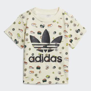 T-Shirt Cream White / Multicolor / Black FM4876