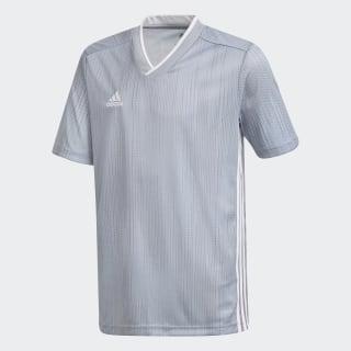 Camisa Tiro 19 Infantil light grey/white DP3183