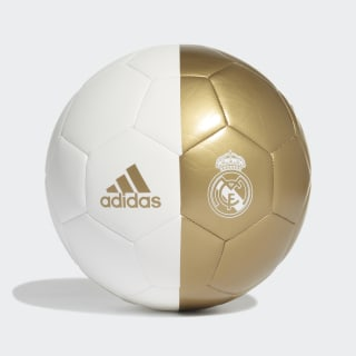 Pallone Capitano Real Madrid White / Dark Football Gold DY2524