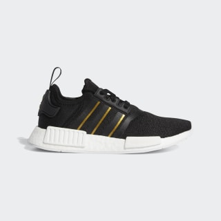 NMD_R1 Shoes Core Black / Gold Metallic / Crystal White FW6433