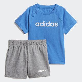 Комплект: футболка и шорты Linear Summer true blue / white DV1263