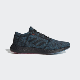 Pureboost Go LTD Shoes Core Black / Core Black / Shock Cyan D97425