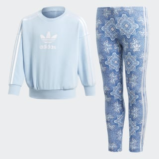 Комплект: брюки и джемпер Culture Clash clear sky / white DV2344
