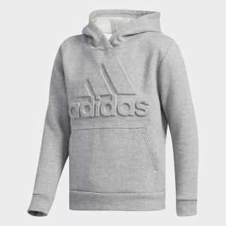 Embossed Badge of Sport Pullover Hoodie Medium Grey Heather CK5297