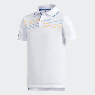 Chest Stripe Polo Shirt White CE3164
