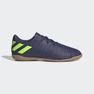 Chuteira Nemeziz Messi 19.4 Futsal Tech Indigo / Signal Green / Glory Purple EF1817