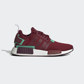 NMD_R1 Shoes Collegiate Burgundy / Collegiate Burgundy / Hi-Res Green BD8007