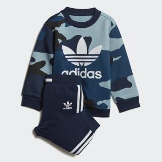 Camouflage Crewneck Sweatshirt Set Multicolor / White DW3856