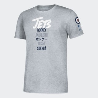 Jets Global Game Tee Nhl-Wje-524 / Medium Grey Heather EK1550