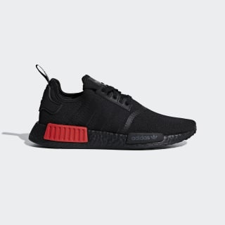 NMD_R1 Shoes Core Black / Core Black / Lush Red B37618