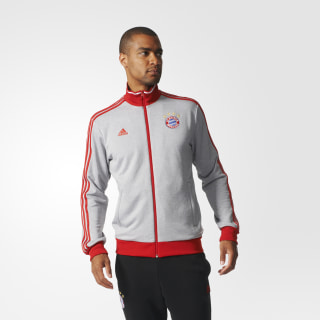 Chamarra Deportiva FC Bayern Múnich MEDIUM GREY HEATHER/FCB TRUE RED AZ5321