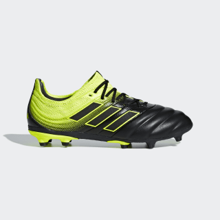 Футбольные бутсы Copa 19.1 FG core black / core white / solar yellow D98092