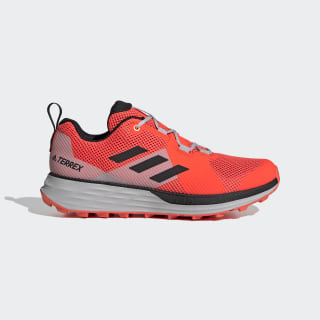 Terrex Two Trail Running Schoenen Solar Red / Core Black / Grey Two EH1838