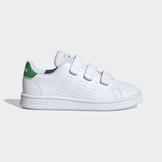 Advantage Shoes Cloud White / Green / Grey Two EF0223