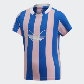 Camiseta ED STRIPES JSY True Pink / Blue DV2869