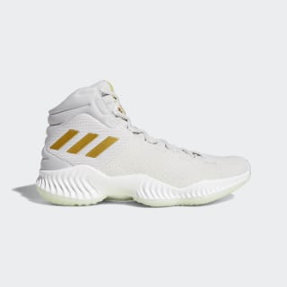 Pro Bounce 2018 Schuh Grey Two / Gold Met. / Aero Green B41859