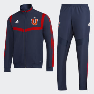 Chaqueta de Presentación Club Universidad de Chile top:collegiate navy/power red bottom:collegiate navy/power red DP5117