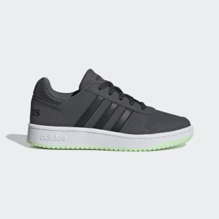 Кроссовки Hoops 2.0 grey six / core black / glow green EE6719