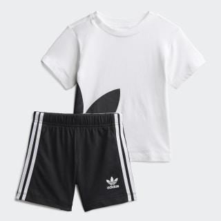 Conjunto de camiseta y pantalón corto Gift White / Black FR5321