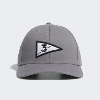 Golf Flag Hat Grey Three FL8481