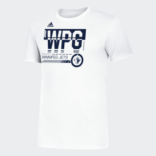JETS HYPER INITIALS TEE Nhl-Wje-524 / White EJ3365
