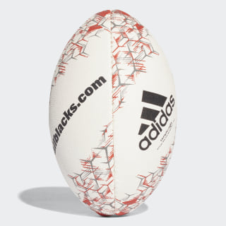 All Blacks Mini Rugby Ball White / Black / Solar Red / Chalk Solid Grey CF6459