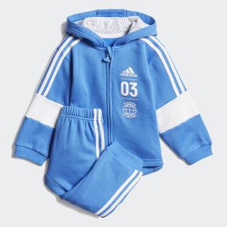 Fleece Jogginganzug True Blue / White DV1276