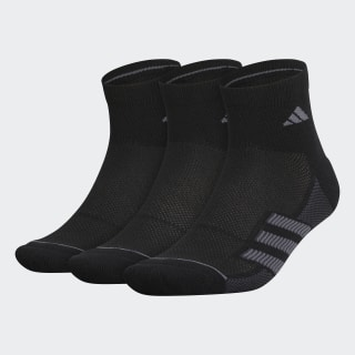 Superlite Stripe 2 Quarter Socks 3 Pairs Black CM5779