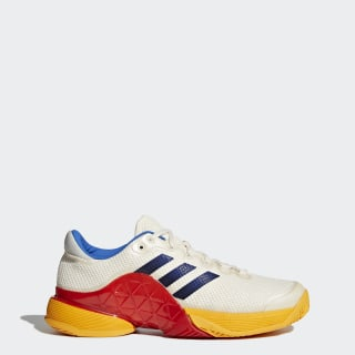 Hommes Barricade 2017 Pharrell Williams Shoes Scarlet/Chalk White/Blue S81004