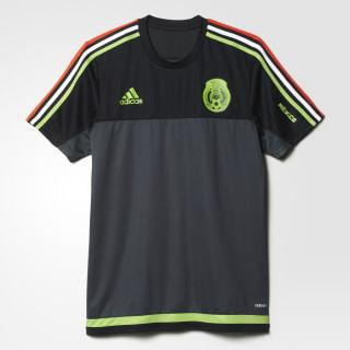Jersey Selección México Training BLACK / DARK GREY / SEMI SOLAR GREEN AA5537