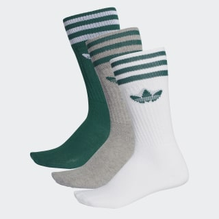 Три пары носков collegiate green / white DY0384