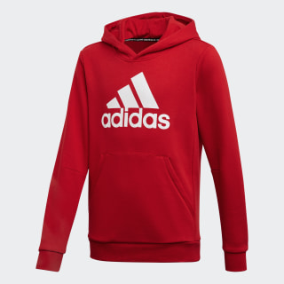 Sweat-shirt à capuche Must Haves Badge of Sport Scarlet / White ED6494