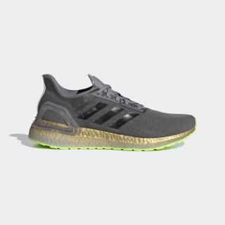 Кроссовки для бега Ultraboost PB Grey Three / Core Black / Signal Green EG0425