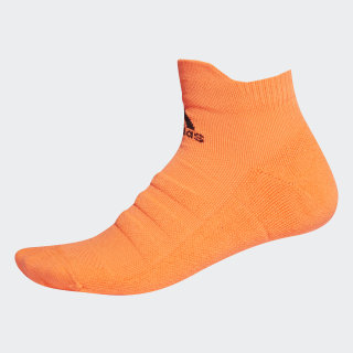 Alphaskin Lightweight Cushioning Ankle Socks Solar Orange / Black EH4308