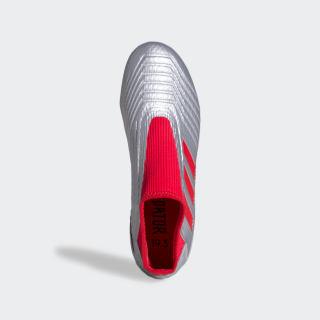 Zapatos de Fútbol Predator 19.3 Terreno Firme Silver Metallic / Hi-Res Red / Core Black G27925