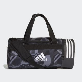 3-Stripes Convertible Graphic Duffel Bag Small Black / White / White DT8654